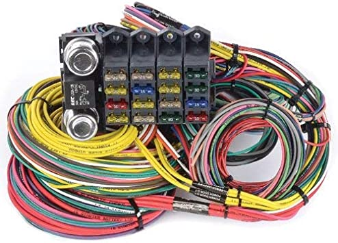 amazon.com: jegs 10405 universal wiring harness 20-circuit 16-fuse:  automotive  amazon.com