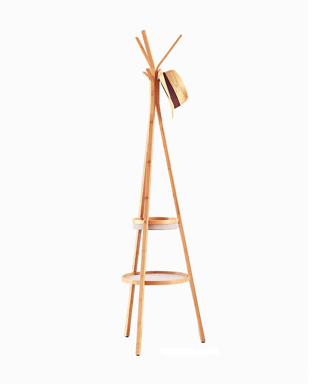 LIANGJUN フロア立っているコート帽子ラックソリッドウッドツリー小枝形状収納ボックス6フック、木製の色、49 * 172センチメートル B079GPVYDX