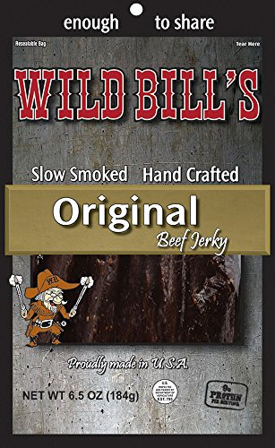 Wild Bills Beef Jerky, Hickory Smoked, 6.5-Ounce