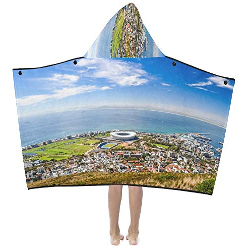 (Gednix Overall Aerial View Cape Town Soft Warm Cotton Blended Kids Dress Up Hooded Wearable Blanket Bath Towels Throw Wrap for Toddlers Child Girls Boys Size Home Travel Picnic Sleep Gifts Beach)