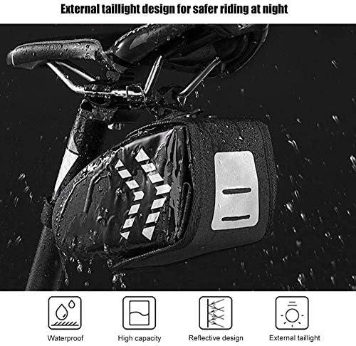 自転車サドルバッグ、防水大容量の絶妙な自転車ツールバッグ、テールバッグ、頑丈で実用的なサドル収納