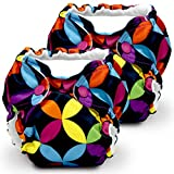 Lil Joey 2 Pack All in One Cloth Diaper, Jeweled