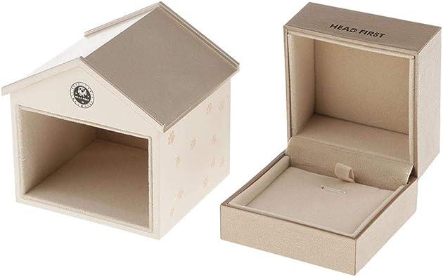 P Prettyia Caja De Diseño De Casa, Caja De Almacenamiento De Joyas para Aretes De Pulsera Organizador De Cajas Bandejas De Almacenamiento: Amazon.es: Joyería