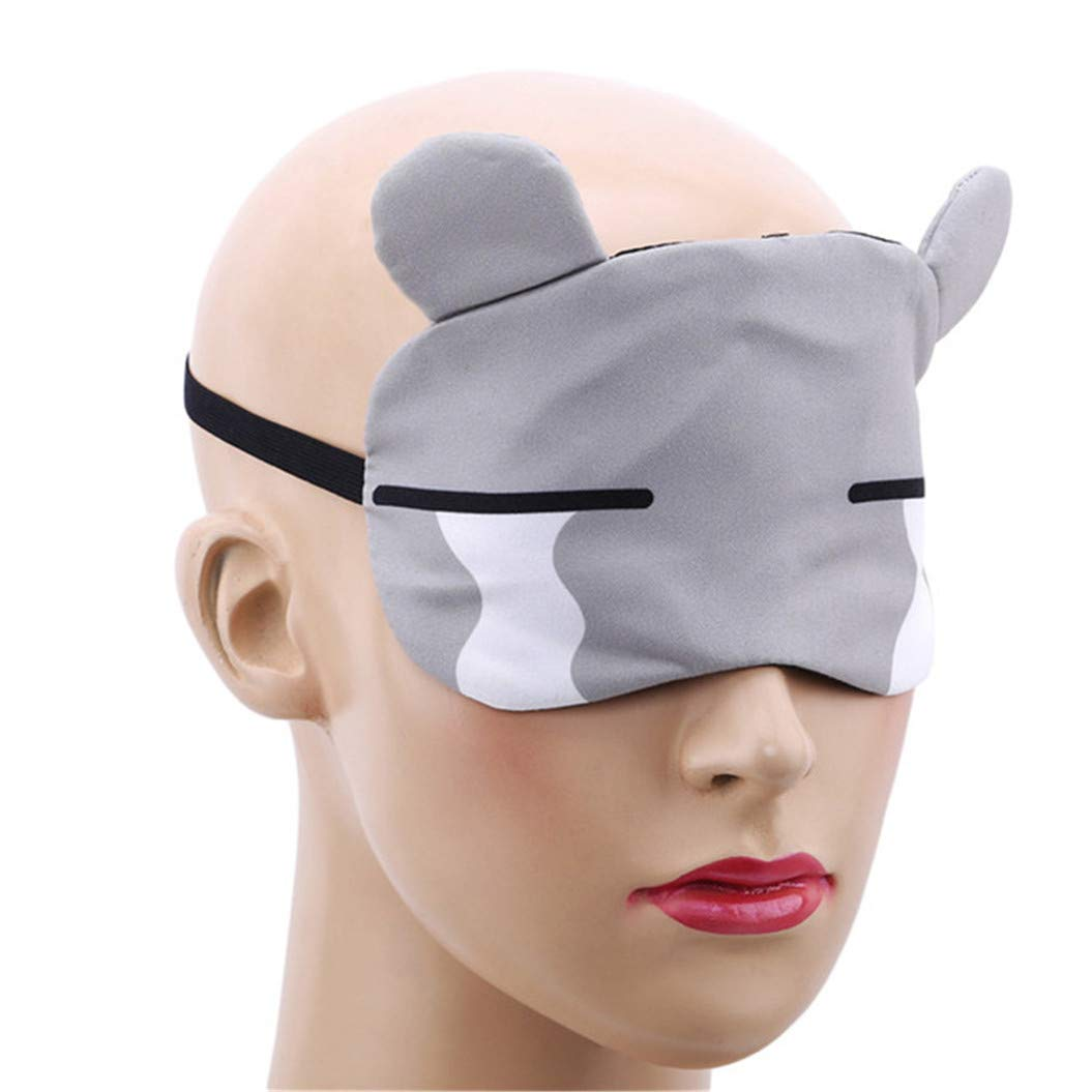 LZIYAN Sleep Masks Cartoon Sleep Eye Mask Soft Cute Eyeshade Eyepatch Travel Sleeping Blindfold Nap Cover,Gray by LZIYAN (Image #3)