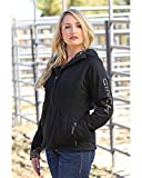 Cinch Women's Softshell Bonded Sherpa Jacket Black Medium