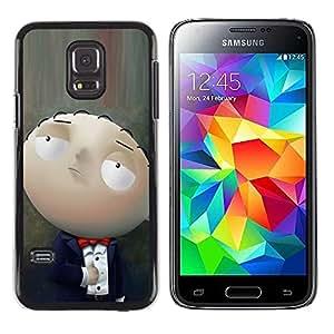 Paccase / SLIM PC / Aliminium Casa Carcasa Funda Case Cover - Character Cartoon Family Baby Smart - Samsung Galaxy S5 Mini, SM-G800, NOT S5 REGULAR!