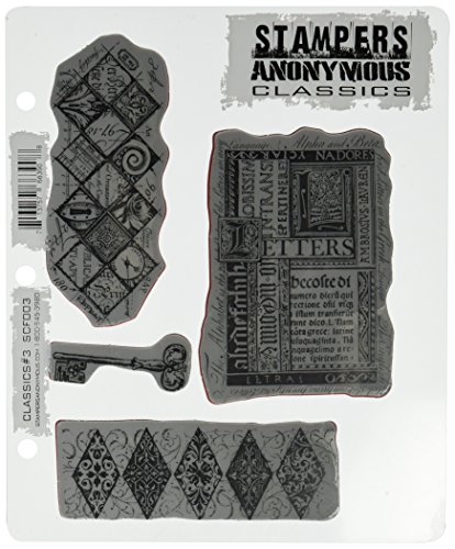 Stampers Anonymous Rubber Stamp Set Classics No.6 7 by 8.5-Inch