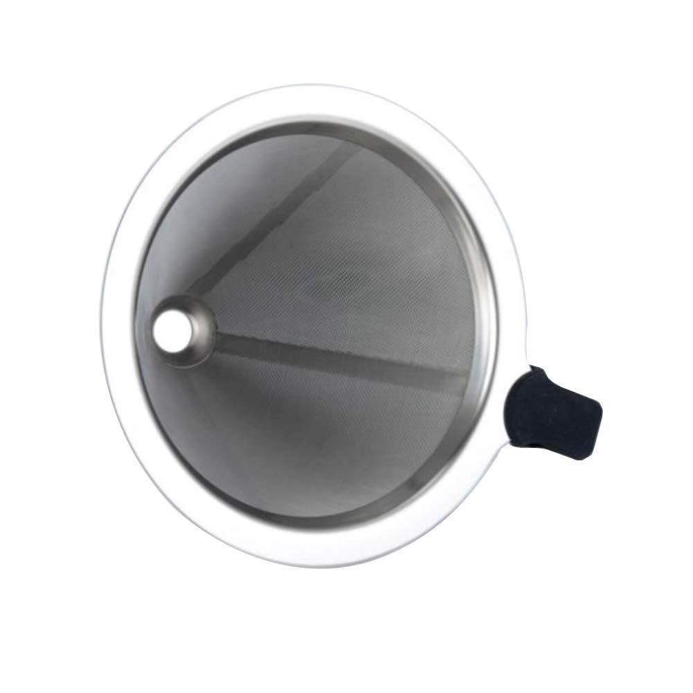 Yamalans 再利用可能 2層 ステンレススチール メッシュ ドリップコーヒーフィルター カップ 新築祝い ギフト 99mm シルバー 961764LT5I5K77A0R9P8AX0BMO 99mm シルバー(Silver) B07NKZ289V