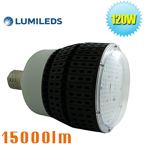 Farm Lite Source (120W LED Retrofit High Bay Bulb Light 5000K Daylight White E39 Mogul Base Replace 400Watt Metal Halide Warehouse Garage Light for Gym Farm Church)