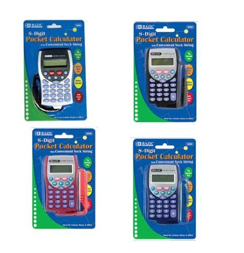 Calculator with Lanyard, Package of 36 by Bazic Products (Image #1)