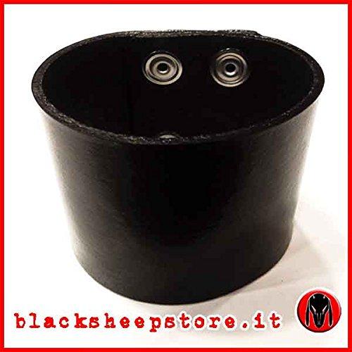 Bracciale cuoio fascia 5cm Made in Italy regolabile artigianale, leather bracelet handmade Biker Rocker