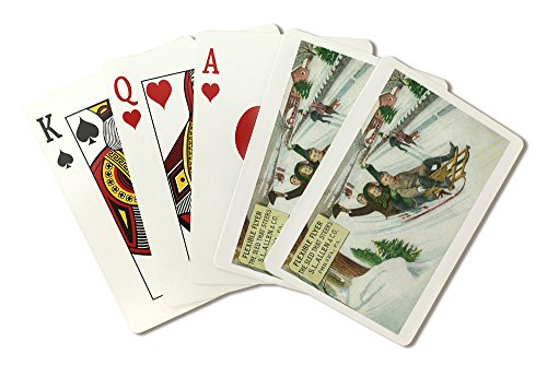 (Philadelphia, Pennsylvania - S L Allen and Co Flexible Flyer Sled (Playing Card Deck - 52 Card Poker Size with Jokers))