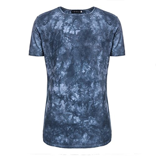 (vermers Clearance Sale Men's Tee Tops Summer Fashion Casual Tie Dye Short Sleeve O-Neck T Shirts(2XL, Blue))