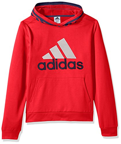 adidas Boys' M Athletic Pullover Hoodie, Scarlet Block, M