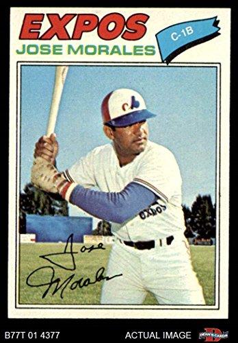 1977 Topps # 102 Jose Morales Montreal Expos (Baseball Card) Dean's Cards 7 - NM Expos