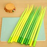 Funny Office Supplies Best Deals - Generic Poo-leaf Forest Green Grass-blade Ballpoint Silicon Grass Pen Black Ink Pack of 12