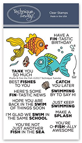 Phyllis & Finn The Fish Clear Stamps | Clear Rubber Stamps | Photopolymer Stamps | Card Making Supplies