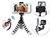 The YouTube CreatorPod 3-in-1 HD Mini Flexible Tripod Kit for iPhone 7/6 Plus, GoPro or Camera AND Bluetooth Remote – Best Gorillapod w/ Biggest Phone Adapter Mount, Samsung S8+ etc.