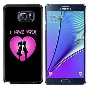 "For Samsung Galaxy Note5 / N920 , S-type Te amo corazón rosado"" - Arte & diseño plástico duro Fundas Cover Cubre Hard Case Cover"