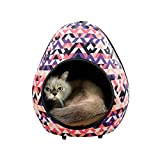 IBIYAYA Cat Cave Pod for Indoor Cats also ideal for Ferret and Puppy Bed (Triangle)