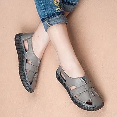Aa-nvliangxie Sandales femmes respirant l'été fait main Baotou Chaussures antidérapage Grotte Antique