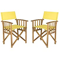 Overstock.com deals on 2 Safavieh Outdoor Living Laguna Acacia Wood Director Chair