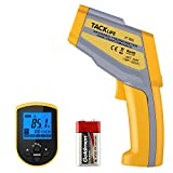 Tacklife IT-T05 Professional Infrared Dual Laser Temperature Gun with Temperature Alarm, Record Data, LCD Backlight, Adjustable Emissivity and DIF/MAX/MIN/AVG Measurements