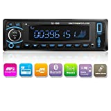 Kidcia Car Stereo, Single-Din Version, Bluetooth In Dash, Remote Control, Digital Media Receivers, USB/SD/Audio Receiver/MP3 Player/FM Radio (SU-1089)