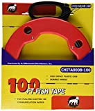 100 FT Fish Tape with High Impact Case for Electric or Communication Wire Puller