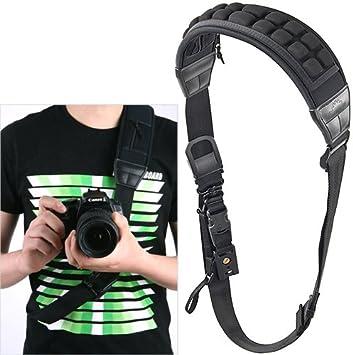 Doble Dual Hombro Sling Cinturón Correa para cámaras digitales rápida rápida DSLR 2//Two