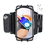 Sports Running Armband Workout Cell Phone Holder Jogging Gym Holder Exercise Arm Case Arm Band Strap for i Phone X, 8 Plus, 7, 8, 7 Plus, 6 Plus, 6, 6s, 4 to 6 inch Android Smartphone