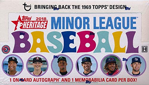 2018 Topps Heritage Minor League Baseball HUGE Factory Sealed HOBBY Box with TWO(2) AUTOGRAPH/MEMORABILIA Cards! Absolutely Loaded with The Best Young Baseball Future Superstars in the Game! WOWZZER! from Wowzzer