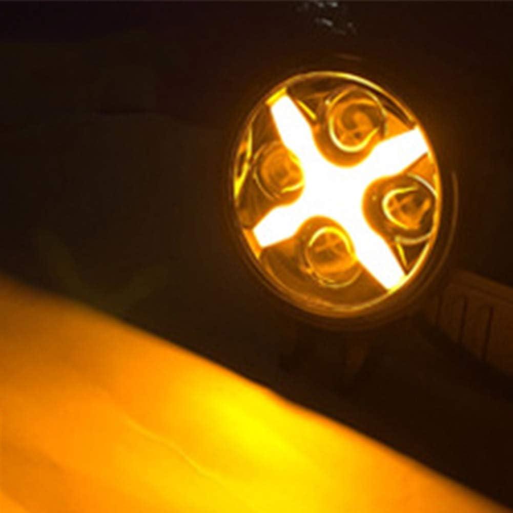 TABEN 7 Jeep LED Faros Delanteros con halo Anillo Blanco Intermitente Luces X Tipo Blanco DRL Hi Lo Beam para 1997 2018 Jeep Wrangler JK TJLJCJNegro