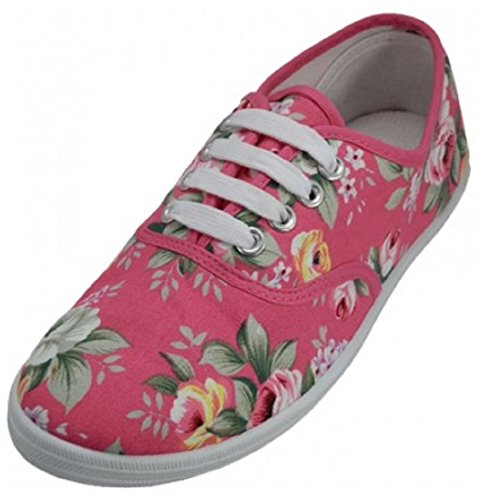Shoes8teen Shoes 18 Womens Canvas Shoes Sneakers Stringate 18 Colori Disponibili Riley Pink 324