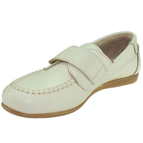 Zapato Piel y Velcro Válido para Comunión para Niño - Modelo 0521: Amazon.es: Zapatos y complementos