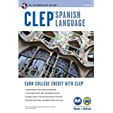 CLEP® Spanish Language Book + Online (CLEP Test Preparation) (English and Spanish Edition)
