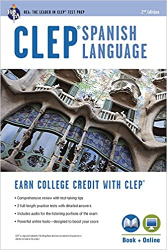 CLEP® Spanish Language Book + Online (CLEP Test Preparation
