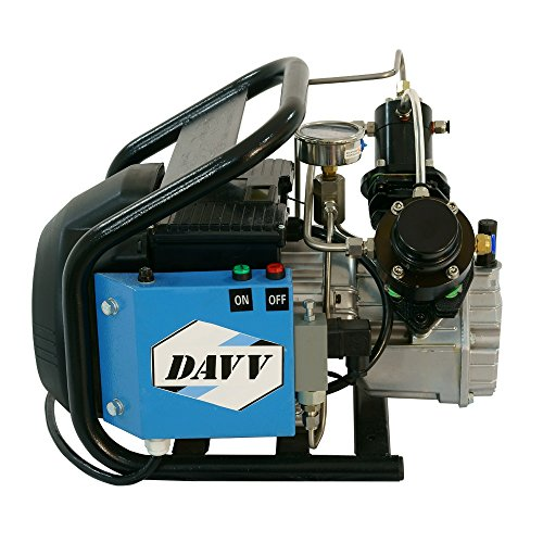(Davv D Machinery 110v 300bar High Pressure Air Compressor Paintball Fill Station for PCP Game)