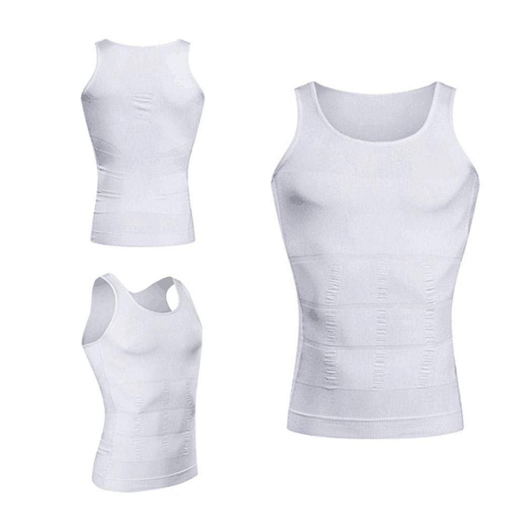 Kizaen Mens Slimming Body Shaper Vest Shirt Abs Abdomen Slim