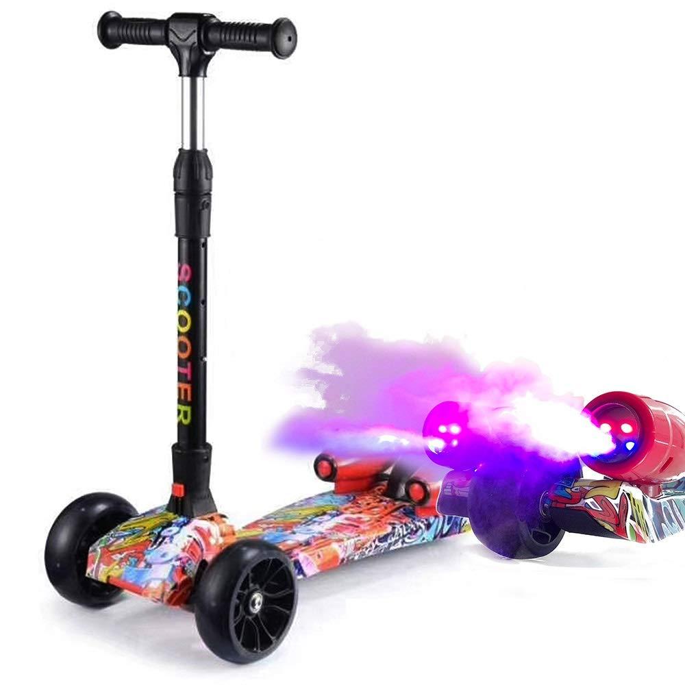 2019人気特価 Bert100 フラッシュホイール付きの315歳の子供用の3輪スクーターに適し、音楽とスプレーで Color、折りたたむことができます。 Multi-colored うまく設計された ( Color B07R1X3QJ3 : Multi-colored ) B07R1X3QJ3, 生活雑貨のお店!Vie-UP:e1770560 --- svecha37.ru