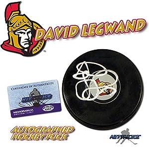 David Legwand Autographed Puck - OTTAWA SENATORS w COA - Autographed NHL Pucks
