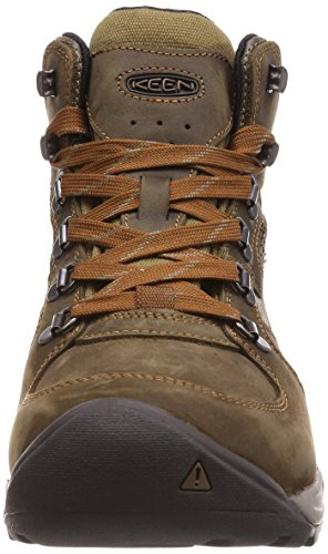 Keen Westward Mid Leather WP scarpe olive 2017 dark olive/rust