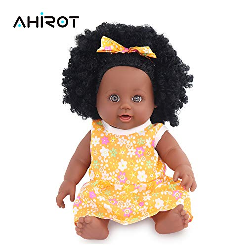 Search : AHIROT Black Girl Doll Fashion African American Play Doll 12 inch Perfect for Birthday Gift to Kids