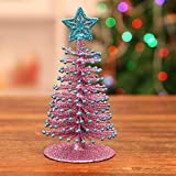 ChenwayMerry ChristmasArtificial Tabletop Mini Christmas Tree Decorations | Festival Miniature Xmas Ornaments Decorative Pendant | Party,Club,Children's Gift,Home,Xmas Creative Decoration (Purple)