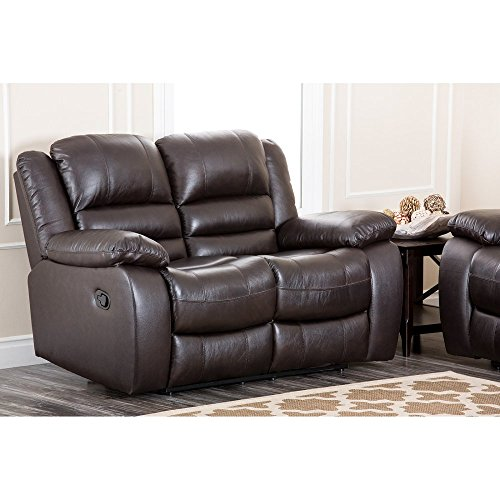 Abbyson Living Dallas Italian Leather Reclining Loveseat