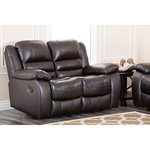 Abbyson Living Dallas Italian Leather Reclining Loveseat (Italian Leather Seat)