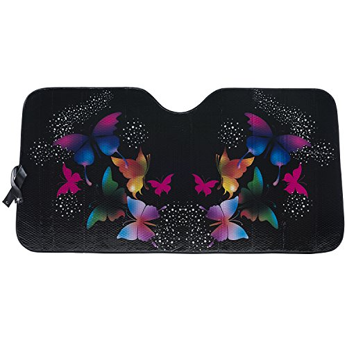 LUNNA SWR-0216 Metallic Sunshade (Special Edition Butterfly Swarovski Crystal Embellished Accordion - Black)
