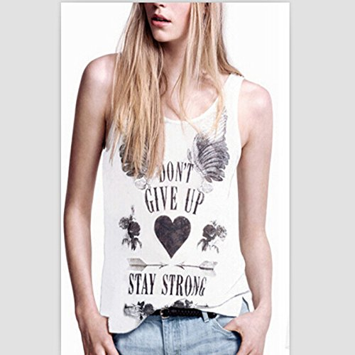 1eb3d45502c02 ... letter loose cotton female t shirt top new summer fashion vest plus size.  well-wreapped Obula(TM) women sexy sleeveless print tank vest top casual o