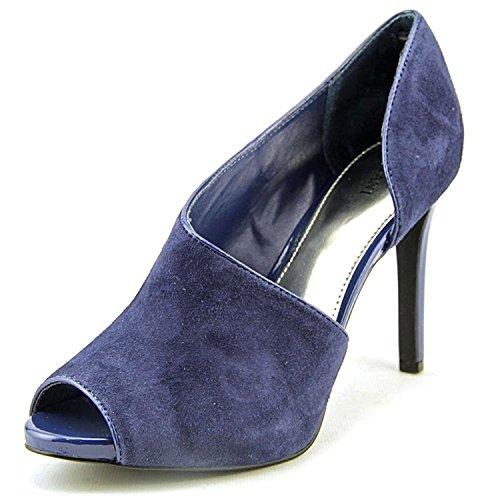 Leather Open Toe D-Orsay Pumps, Blueberry, Size 8.5 (Alfani Open Toe Heels)