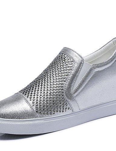 ZQ Zapatos de mujer - Tacón Cuña - Creepers - Tacones - Oficina y Trabajo / Vestido / Casual / Deporte / Fiesta y Noche - Purpurina -Negro / , silver-us8 / eu39 / uk6 / cn39 , silver-us8 / eu39 / uk6 black-us6.5-7 / eu37 / uk4.5-5 / cn37